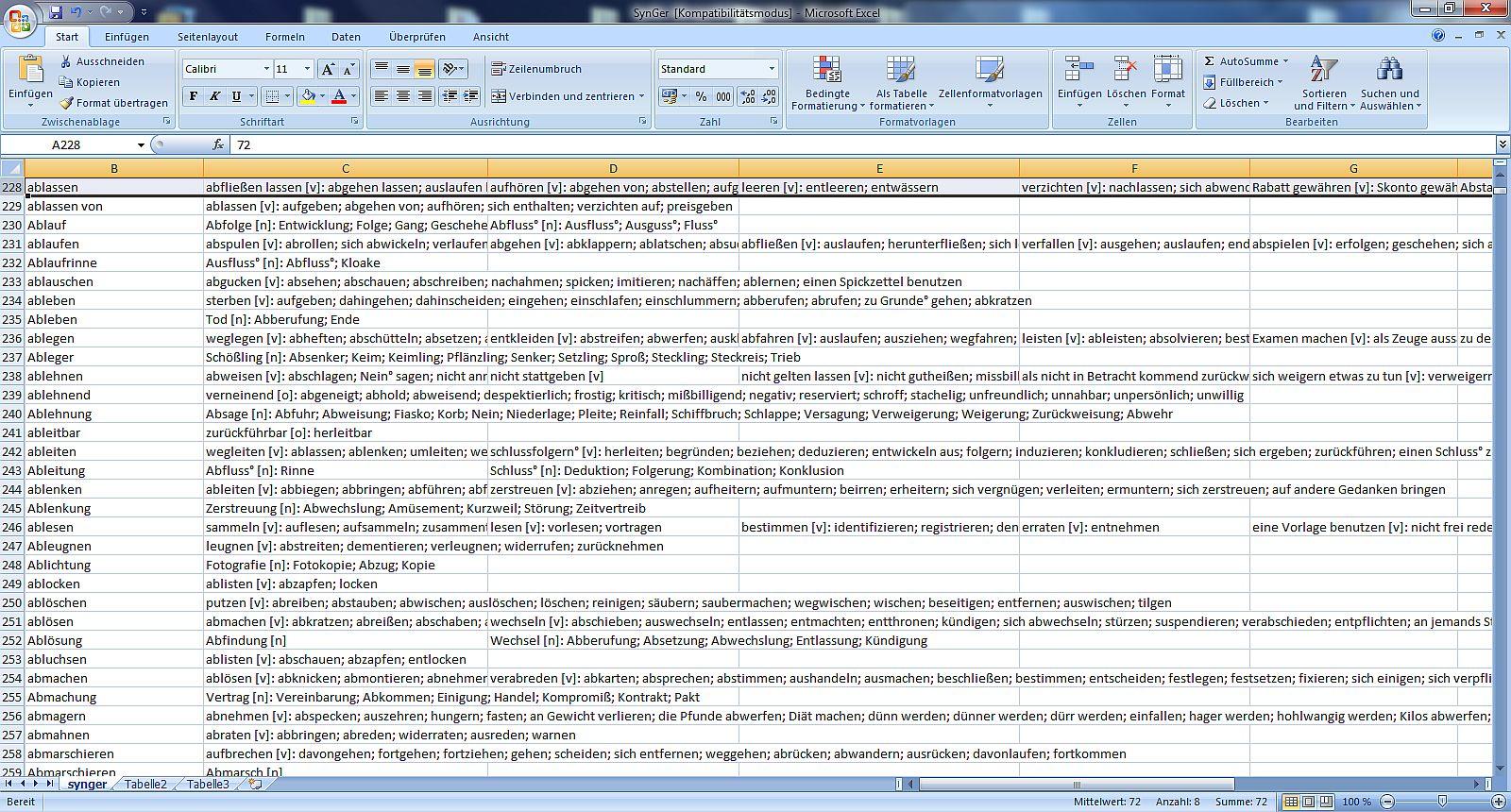English In Italian: TT- Software/ Databases: Synonymlexika, Thesaurus- Database